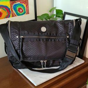 Lululemon Moto Messenger Bag Black Chevron